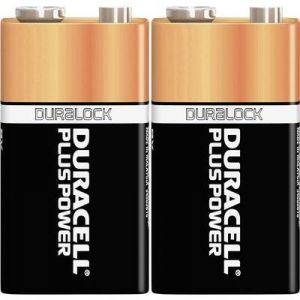 Duracell 2 piles alcalines 9V 6LR61 Plus Power