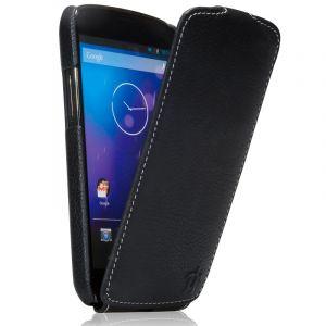 Issentiel Housse Google Nexus 4 cuir noir grainé