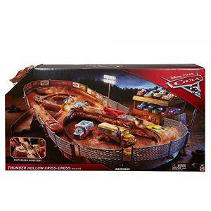 Mattel Circuit de voitures Cars 3 Thunder Hollow avec véhicule Flash McQueen