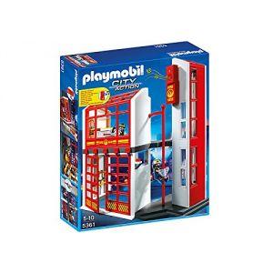 Playmobil 5299 city action commissariat de police avec prison comparer avec - Caserne de police playmobil ...