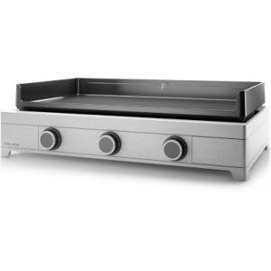 Forgeadour Modern 75 Inox - Plancha à gaz 3 brûleurs
