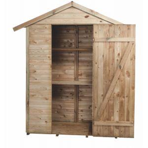 Madeira Armoire de jardin en bois 2 étagres - 1,90 m3