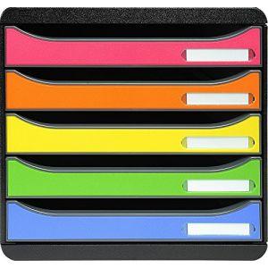 Exacompta Big-Box Plus Classic 5 tiroirs Arlequin