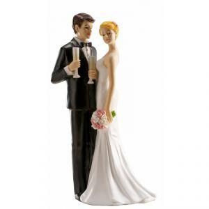 Figurine de couple de mariés au Champagne