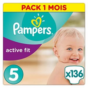 Pampers Active Fit taille 5 (11-23 kg) - 136 couches