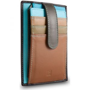 Dudu Portefeuille Porte cartes de crédit en cuir multicolor avec languette