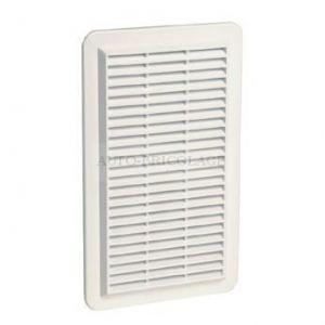Nicoll Grille façade applique verticale moust. 150cm² blanc, sachet 1GAPMV -