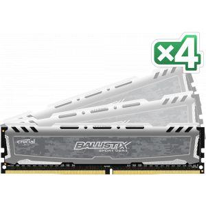 Crucial Sport LT - DDR4 - 32 Go: 4 x 8 Go - DIMM 288 broches - 3000 MHz / PC4-24000 - CL16 - 1.35 V - mémoire sans tampon - non ECC - gris