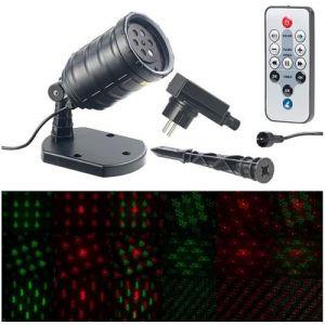 Lunartec Projecteur laser télécommandé à 6 motifs LP-550