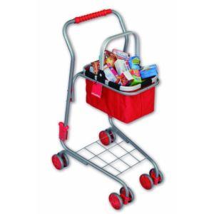 Chariot de courses pour enfants avec panier garni