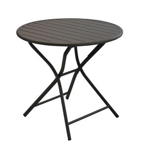 Proloisirs Table MAX ronde aluminium grise D.80 cm