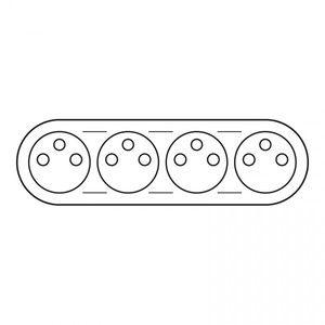 Legrand Enjoliveur Céliane prise 4 x 2P+T précablée compacte blanc