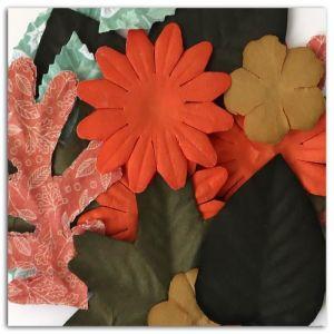 Toga 20 feuilles et fleurs papier - Miel et cannelle