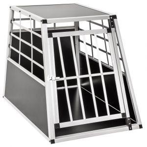 TecTake Caisse de Transport Chien en Aluminium 90 cm x 65 cm x 69,5 cm Noir