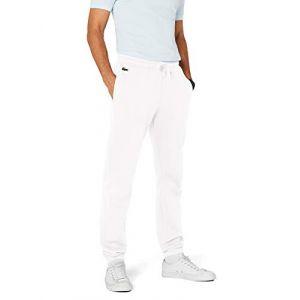 Lacoste Sport XH120T, Pantalon de sport Pantalon Homme, Blanc, XL