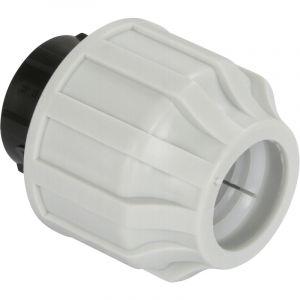 Somatherm Bouchon plastique a serrage exterieur pour tube ext. 25 polyethylene semi-rigide