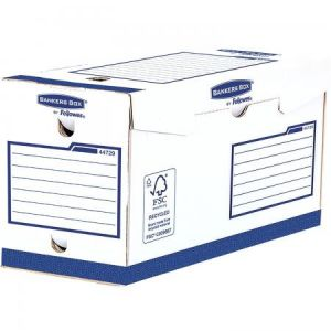 Fellowes 4472902 - Lot de 20 boîtes à archives Bankers Box Heavy Duty, larg. 200 mm, coloris blanc/bleu