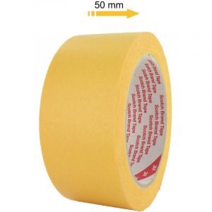 3M Ruban de masquage 244 50mm x 50m jaune
