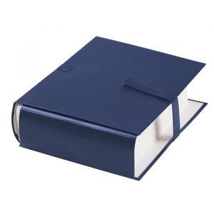 Fast 100725677 - Lot de 10 chemises à dos extensible 1 rabat, à sangle et fermeture velcro, coloris bleu foncé