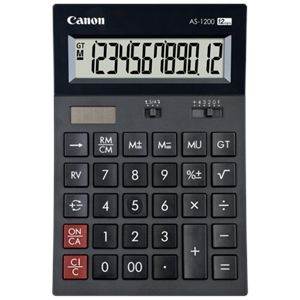 Canon AS-1200 - Calculatrice de bureau à 12 chiffres au design arqué
