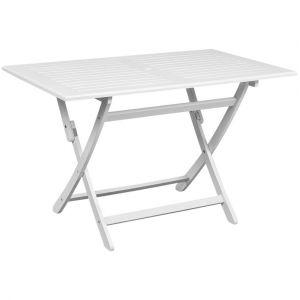 VidaXL Table d'extérieur en bois d'acacia rectangulaire