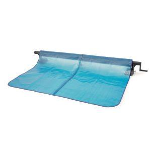 Intex Enrouleur pour bâche à bulles - 2,74 / 4,88 m - Bleu