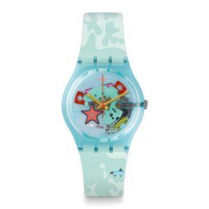 Swatch Mixte Digital Quartz Montre avec Bracelet en Silicone GL121