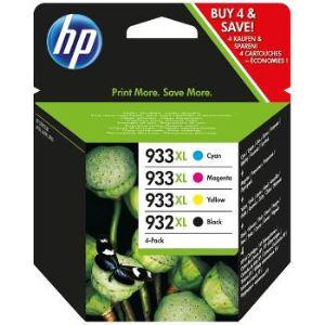 HP C2P42AE - Lot de 4 Cartouches d'encre n°932xl et 933XL Noir/Tricolore