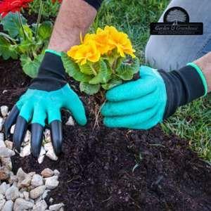 Garden & Greenhouse Gants de Jardinage avec 4 Griffes pour Creuser