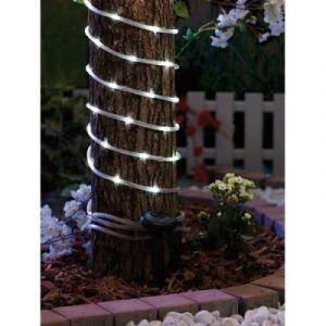 Lunartec Lampe solaire Cordes 7 metres avec 50 LED Blanc brillant