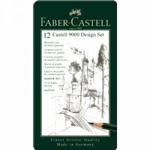 "Faber-Castell 119064 - Set ""Design"" de 12 crayons graphite Castell 9000"