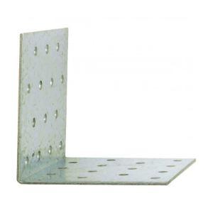 Alberts 330903 - Equerre d'assemblage galvanisée perforée 2,5 mm Dimensions 100 x 100 x 100 mm