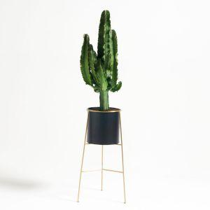 Cac pot sur pied INAYA métal et laiton Noir/Laiton Taille Taille Unique