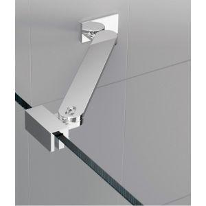 Novellini Barre de renfort d'angle 45 cm chrome - R80LOU450-K