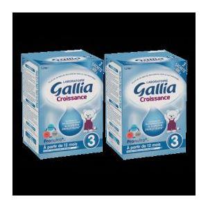 Gallia Lait Croissance 3ème âge 2 x 800g - dès 12 mois