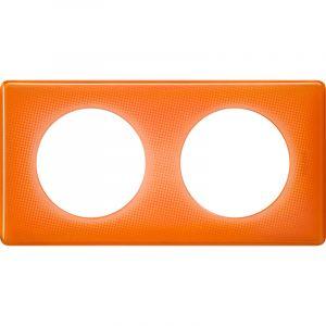 Legrand Plaque double Céliane orange