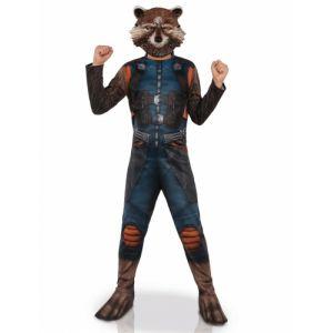 Déguisement cl ique avec masque Rocket Raccoon enfant 5 à 7 ans