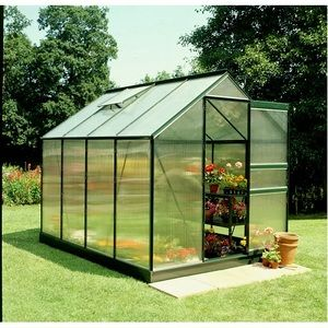 Halls Serre Forest Green Popular en polycarbonate 6,2m²