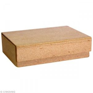 decopatch BT006O - Boîte à cartes 10,5x14cm, en papier mâché