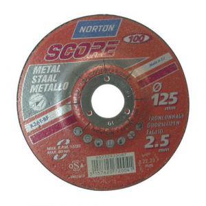 Disque à tronçonner Score 100 métal 115x2 5 mm Disque pour meuleuse NORTON neuf