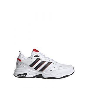 Adidas Strutter Chaussures de Course pour Homme - Blanc Noir Rouge, 40 EU