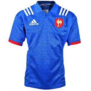 Adidas BR3359 Maillot Homme, Bleu/Blanc/Powred, FR : 2XL (Taille Fabricant : XXL)