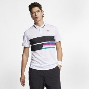 Nike Polo Court pour Homme - Blanc - Taille M