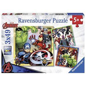 Ravensburger 3 49 pièces Puissants The, Puzzle, Casse Tete, Enfants, Garcon, Jouet Fille, Jeux, Avengers, 4005556080403, Néant