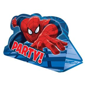 8 cartes d'invitation avec enveloppes Spiderman