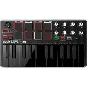Akai Professional MPK Mini MKII LE Black - Clavier Maître MIDI/USB 25 Touches Sensibles à la Vélocité avec 8 Pads et Joystick 4 Voies + VIP 3.0 et Pack de Logiciels Inclus