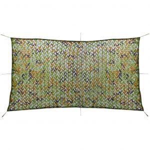 VidaXL Filet de camouflage avec sac de rangement 1,5 x 3 m