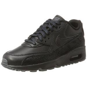 Nike Air Max 90 LTH GS, Chaussures de Gymnastique Fille, Noir (Black/Black/DK Grey), 36.5 EU