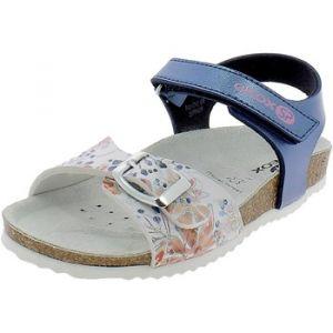 Geox Adriel Girl J928MB Fille Sandales,Sandales,Lassie Sandale à Semelle intérieure,Pantoufle,Chaussure d'été,Sandale d'été,Bleu,35 EU