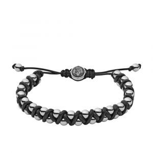 Diesel Bracelet Bijoux DX1109040 - Bracelet Perles Acier Homme